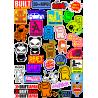 Стикерпак - набор наклеек JDM N4