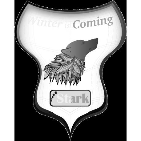 Флаг дома Старков из сериала Игра престолов (Game of Thrones)
