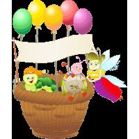 Мультяшные персонажи с шариками