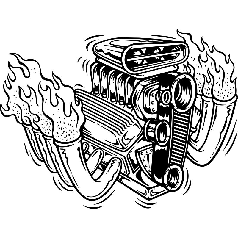 V8 Engine Tattoos