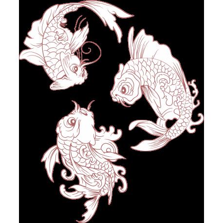 Рыбы плывут по кругу