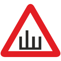 Знак Ш - Шипы с четырьмя палками