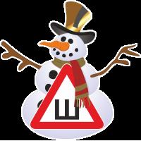 Знак Ш - Шипы на снеговике