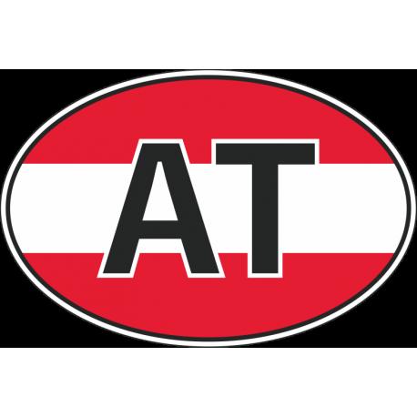 Флаг Австрии в полукруге