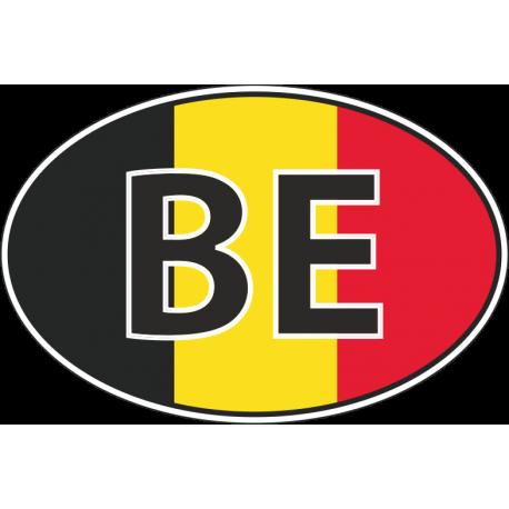Флаг Бельгии в полукруге