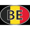 Флаг Бельгии в овале