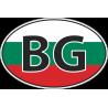 Флаг Болгарии в полукруге