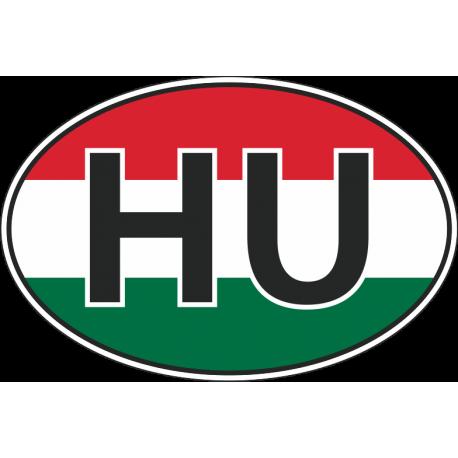 Флаг Венгрии в полукруге