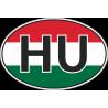 Флаг Венгрии в овале