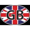 Флаг Великобритании в полукруге