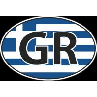 Флаг Греции в овале