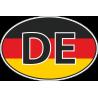 Флаг Германии в овале