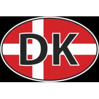 Флаг Дании в овале