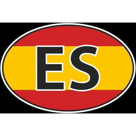 Флаг Испании в овале