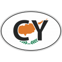 Флаг Кипра в овале