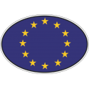 Флаг Евросюза в овале