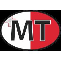 Флаг Мальты в овале