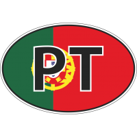 Флаг Португалии в овале