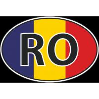 Флаг Румынии в овале