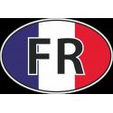 Флаг Франции в овале