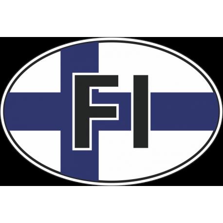Флаг Финляндии в овале