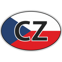 Флаг Чехии в овале