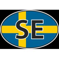 Флаг Швеции в овале