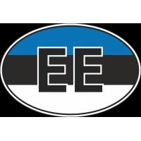 Флаг Эстонии в овале