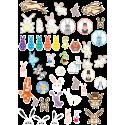 Стикерпак - набор наклеек  зайцы