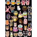Стикерпак - набор наклеек  совы
