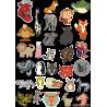 Стикерпак - набор наклеек  животные