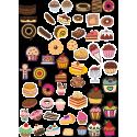 Стикерпак - набор наклеек  кондитерские изделия