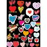 Стикерпак - набор наклеек сердца