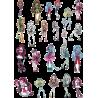 Стикерпак - набор наклеек Monster High