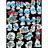 Стикерпак - набор наклеек Смурфики
