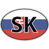 Флаг Словакии в овале