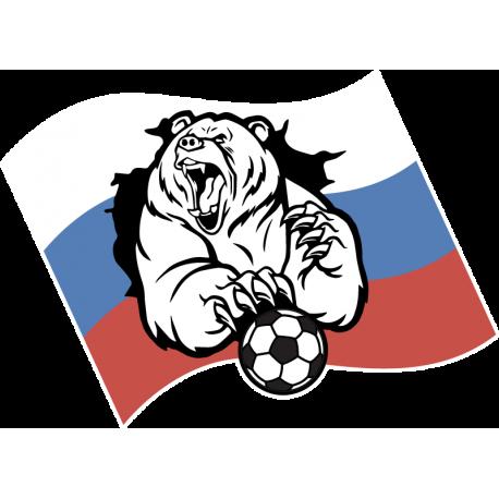 Русский медведь с мячом
