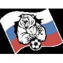 Русский медведь с футбольным мячом