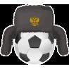 Футбольный мяч в русской шапке ушанке