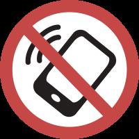 """Знак """"Не Использовать Смартфон, Смартфон Использовать Запрещено"""""""