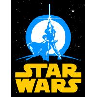 Юбилейный логотип Звездные Войны (Star Wars) Люк Скайуокер, Принцесса Лея (Luke Skywalker, Princess Leia)