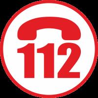 Эмблема 112 с белым фоном