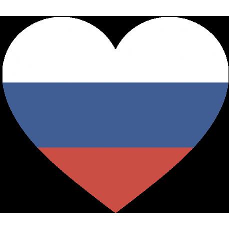 Сердце Флаг России (Российский Флаг в форме сердца)