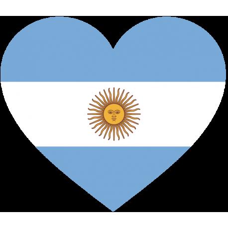 Сердце Флаг Аргентины (Аргентинский Флаг в форме сердца)