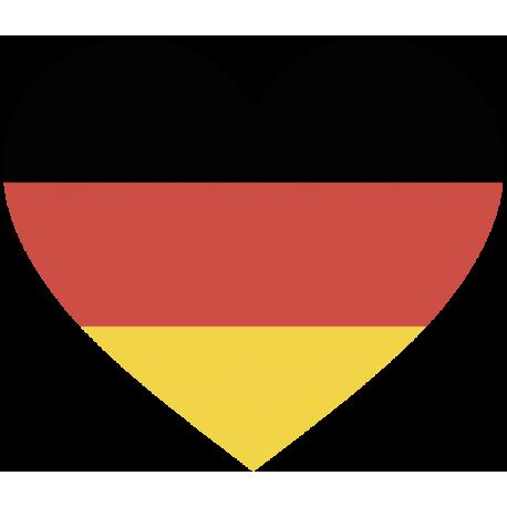 Сердце Флаг Германии (Немецкий Флаг в форме сердца)