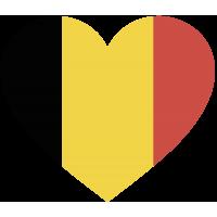Сердце Флаг Бельгии (Бельгийский Флаг в форме сердца)