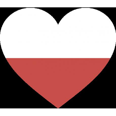 Сердце Флаг Польши (Польский Флаг в форме сердца)