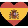 Сердце Флаг Испании (Испанский Флаг в форме сердца)