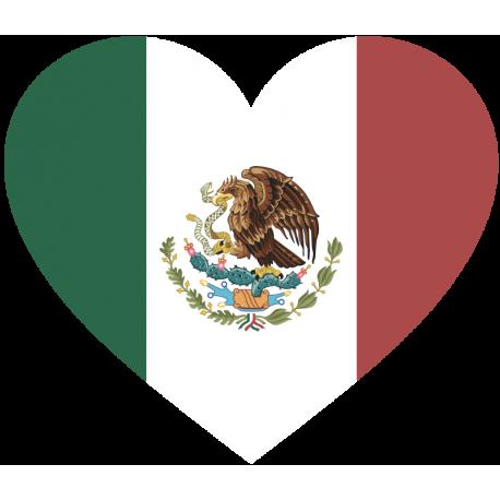 Сердце Флаг Мексики (Мексиканский Флаг в форме сердца)