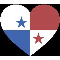 Сердце Флаг Панамы (Панамский Флаг в форме сердца)